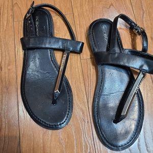 BCBGeneration Push toe black with silver sandal